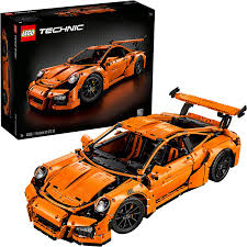 The bugatti model car measures over 5 inches (14cm) high, 22 inches (56cm) long and 9 inches (25cm) wide. Amazon Com 2704 Pieces Gearbox Working Steering Wheel Porsche Building Toy 6 H X 22 L X 9 W Toys Games