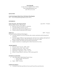Cover Letter Sample Of Resume For High School Student Sample