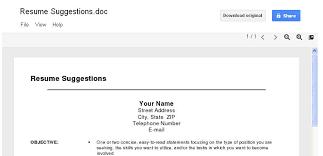 Google Docs Resume Template Resume Templates For Docs Resume