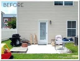 concrete slab patio makeover. Simple Patio Patio Makeovers Concrete Slab Backyard Transformation Ideas  Decorating On A Budget To Makeover O
