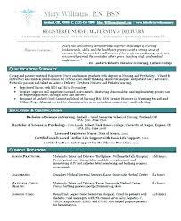 Nurse Resume Example O A Registered Template Cv Sample Templates ...