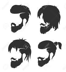 ひげと口ひげを持つメンズ髪型のイラスト素材ベクタ Image 79623056