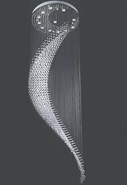 crystal spiral chandelier moon shaped wave spiral staircase inside spiral chandelier view 7 of