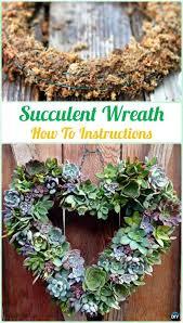 DIY Hanging Succulent Wreath Instruction- DIY Indoor Succulent Garden Ideas  Projects