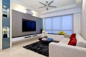 apartment living room rug. Modern Living Room With White Sofa And Round Black Glass Table On Rug Carpet For Apartment Decoration D