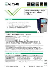 Resistance Welding Transformer Design Resistance Welding Control High Frequency Inverter Isq