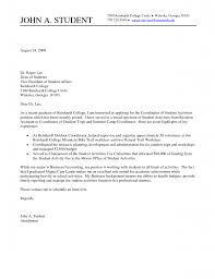 Student Affairs Cover Letter Sample 10 Cover Letter Sample For College Student Proposal Sample
