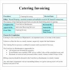 Catering Invoice Example Image For Food Invoice Template Bill Receipt Restaurant
