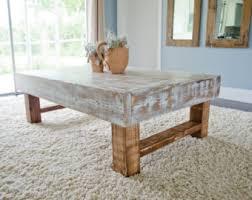 Rustic Coffee Table, Farmhouse Coffee Table, Whitewashed Rustic Coffee Table,  Distressed Coffee Table