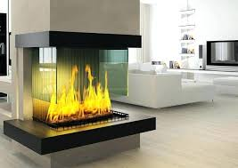 glass electric fireplace crushed insert