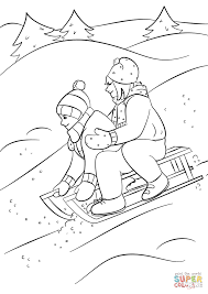 Small Picture Winter Sledding coloring page Free Printable Coloring Pages