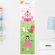 Personalized Princess Growth Chart Princess Growth Chart Wall Decal Personalized Maxwill Studio