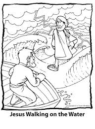 Jesus Walks On Water Coloring Page Walking On Water Coloring Page