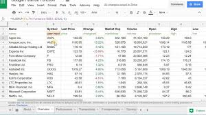 Google Finance Chart Api Create The Google Finance Portfolio In Google Sheets