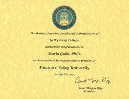 Congratulations Certificate Certificates Of Congratulations Delaware Valley University 6