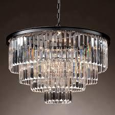 Люстра rh 1920s odeon clear glass fringe chandelier 60