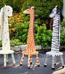 Giraffe Coat Rack Kids Zebra Stool with Coat Rack Safari Collection Kids RacksAll 46