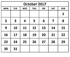 october printable calendar 2017 free download calendar 2017 with