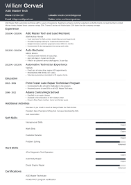 Sample Resume Auto Mechanic Mechanic Resume Sample Complete Writing Guide 20 Examples