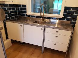Ikea Udden Double Work Table Stainless Steel Freestanding Kitchen