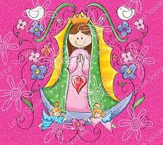 Resultado de imagen para virgen de guadalupe caricatura