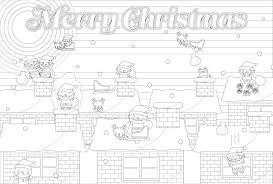 塗り絵に最適な白黒でかわいいクリスマストナカイの無料イラスト商用