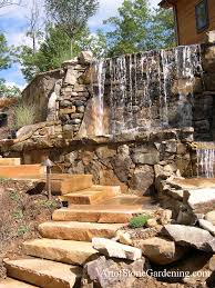 beautiful backyard wall waterfall art