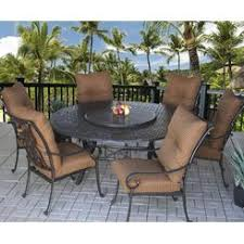 round outdoor dining sets. Heritage Outdoor Living Patio 7pc Dining Set With Series 5000 71\ Round Outdoor Dining Sets T