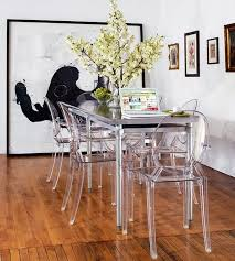 small dining room chairs. Dining Room: Pretty Narrow Table With Glass Design Have Big Flower Vase On The Small Room Chairs I