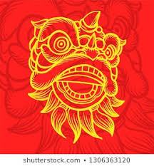 Watch cartoon online free in hd. Dragon Lion Barongsai China Vector Illustration Stock Vector Royalty Free 1306363120