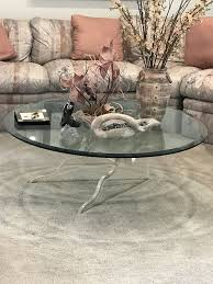 glass round table beveled edges furniture in highland park il offerup