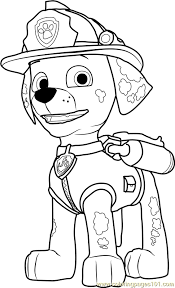 Small Picture Marshall Coloring Page Free PAW Patrol Coloring Pages
