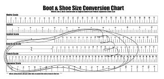 Printable Foot Size Chart Freepsychiclovereadings Com