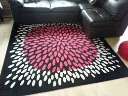 square large rug carpet black pink white ikea tradklover 200x200cm 5 7