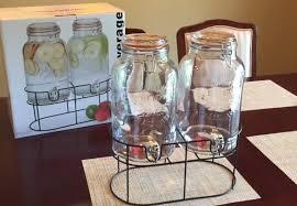 simple flow 1 5 gallon double mason jar glass drink beverage dispenser review