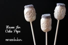 Mason Jar Cake Pops Pint Sized Baker