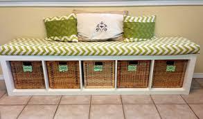 diy storage bench seat on