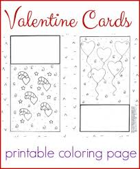 Free printable valentines day cards instructions. Darling Valentine Cards Coloring Page
