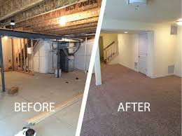 Colorado Springs Basement Finishing AwardWinning Homefix - Ununfinished basement before and after