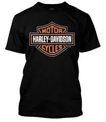 harley davidson men s orange bar shield black t shirt 30290591