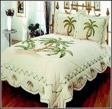 palm tree bedding king size bedroom home decorating