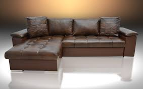 leather sofa bed. REAL LEATHER CORNER SOFA BED MIKE, UNIVERSAL HAND, BROWN Leather Sofa Bed ,