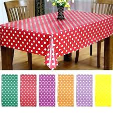 polka dot table covers cover for parties disposable round tablecloth large home picnics plastic pink tablecloths polka dot table covers plastic