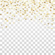 Gouden Sterren Confetti Viering Geïsoleerd Op Wit Transparante