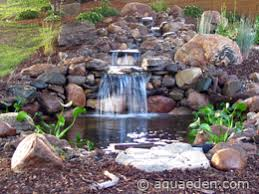 Small Picture Backyard Pond Pictures With Waterfalls Natural Backyard Waterfall