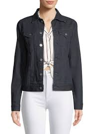 ag adriano goldschmied may on front denim trucker jacket