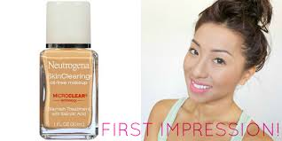 neutrogena skin clearing oil free makeup foundation first impression review initialplv you
