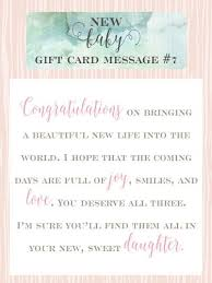 Congratulations On Your New Baby Card 10 Sweet Messages For New Baby Girl Gift Cards Baby Girl