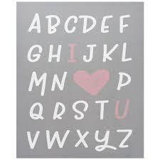 heart u alphabet canvas wall art