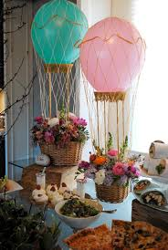 Mini hot air balloon centerpieces. Designed by Puja Seth